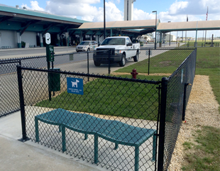 Pet Relief area at ECP Airport